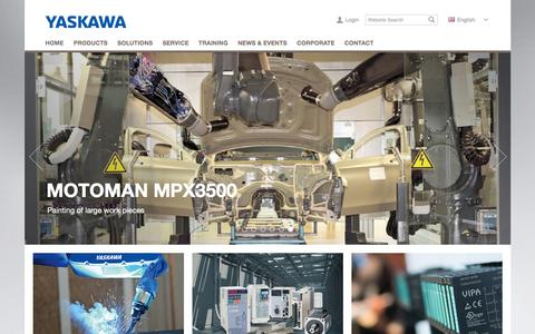 Screenshot of Menu Page yaskawa.eu.com - Yaskawa Europe - Yaskawa Europe GmbH - captured March 9, 2016