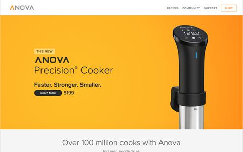 Screenshot of Home Page anovaculinary.com - Anova Culinary | Cook sous vide at home - captured Nov. 16, 2019