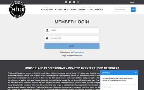 Screenshot of Login Page advancedhouseplans.com - House Plans by Advanced House Plans | Find Your Dream Home Today - captured Nov. 6, 2018