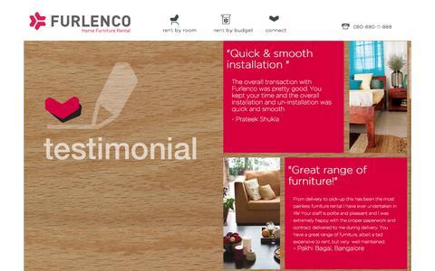 Screenshot of Testimonials Page furlenco.com - Testimonials | Furlenco - captured Sept. 25, 2014