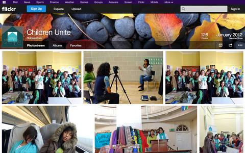 Screenshot of Flickr Page flickr.com - Flickr: Children Unite's Photostream - captured Oct. 22, 2014