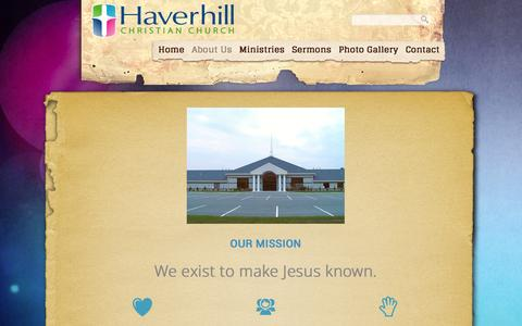 Screenshot of About Page haverhillchristian.org - About Us «  Haverhill Christian Church - captured Jan. 27, 2016