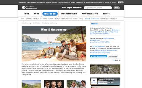 Screenshot of Products Page costabrava.org - Gastronomy | Costa Brava Girona Pyrenees - captured Sept. 5, 2017