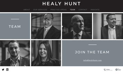 Screenshot of Team Page healyhunt.com - Members - Healy Hunt - captured July 31, 2017