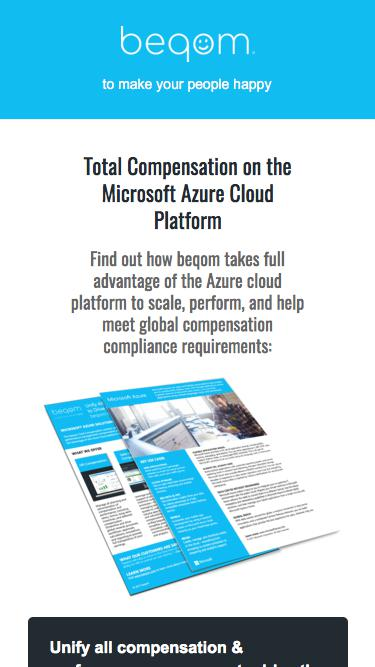 Data Sheet | Total Compensation on the Microsoft Azure Cloud Platform