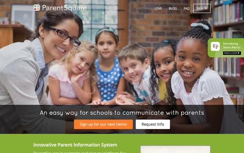 Screenshot of Home Page parentsquare.com - ParentSquare | Involve EVERY Parent - captured Dec. 7, 2015