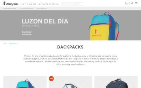Backpacks | Hiking, Camping, Travel, and More at Cotopaxi