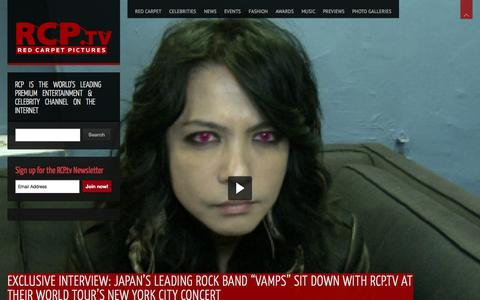 Screenshot of Home Page rcp.tv - RCP.tv | Red Carpet Pictures - captured Sept. 19, 2014