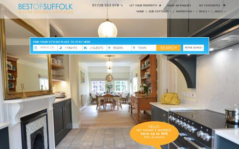Screenshot of Home Page bestofsuffolk.co.uk - Self Catering Suffolk Holiday Cottages | Best of Suffolk - captured Oct. 10, 2017