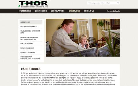 Screenshot of Case Studies Page thorinvestment.com - Case Studies   THOR Investment Management, Inc. - captured Oct. 9, 2014
