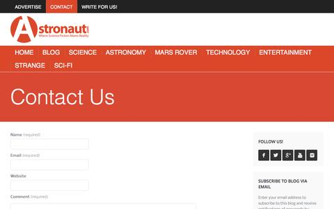 Screenshot of Contact Page astronaut.com - Contact - Astronaut.com - captured Oct. 4, 2014