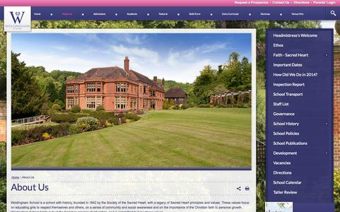 Screenshot of About Page woldinghamschool.co.uk - About Us - captured Oct. 9, 2014