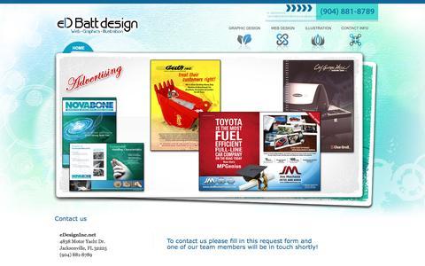 Screenshot of Contact Page edbatt.com - eDesigninc.net - Ed Batt Design - Contact Info - captured March 22, 2016