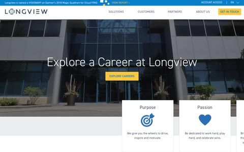 Screenshot of Jobs Page longview.com - Careers | Longview - captured Aug. 27, 2018