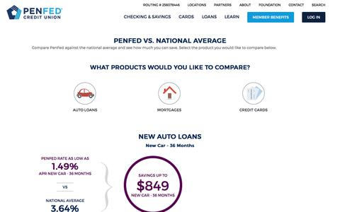 Dare to Compare Our Rates   PenFed