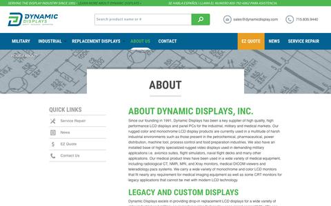 Screenshot of About Page dynamicdisplay.com - About Dynamic Displays - captured Oct. 13, 2017