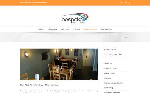 Screenshot of Case Studies Page bespoke.biz - Bespoke Installations SW ltd   –  Portfolio - captured Oct. 5, 2014