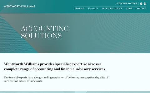 Screenshot of Services Page wentworthwilliams.com - Services - Wentworth Williams - captured Oct. 24, 2018