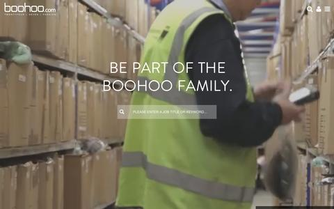 Screenshot of Jobs Page boohoo.com - Welcome - boohoo - captured Nov. 23, 2016