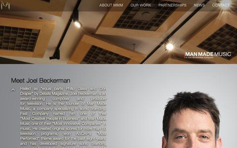 Screenshot of Team Page manmademusic.com - LEADERSHIP | Man Made Music - captured May 28, 2017