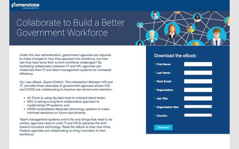 Screenshot of Landing Page cornerstoneondemand.com - CSOD   Expert Edition: The Intersection Between HR and IT - captured Sept. 19, 2018