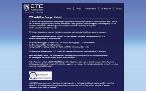 Screenshot of About Page ctcaviation.com - About - CTC Aviation - captured Oct. 1, 2014