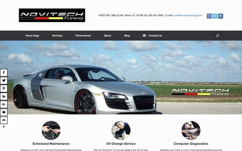 Screenshot of Home Page novitechtuning.com - Miami Auto Repair | European Car Repair Service | Novitech Tuning - captured Aug. 14, 2016