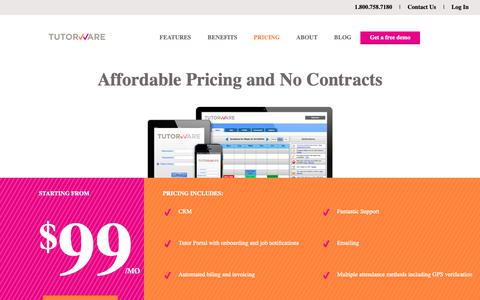 Screenshot of Pricing Page tutorware.com - Affordable Pricing and No Contracts - Tutorware - captured Oct. 23, 2018