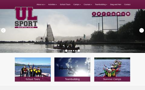 Screenshot of Home Page ulac.ie - UL Sport | Adventure Centre - captured Oct. 3, 2014