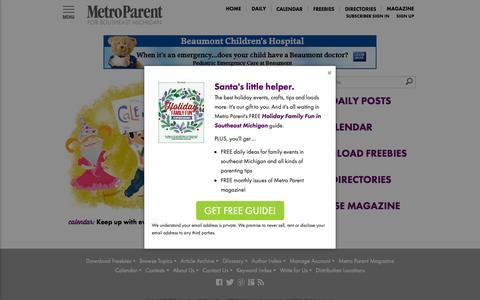 Screenshot of Home Page metroparent.com - Metro Parent - Parenting advice, Michigan family fun and more - captured Nov. 12, 2015
