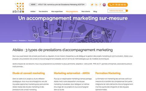 Screenshot of Services Page abileo.com - Prestations - Abiléo - captured Aug. 5, 2015