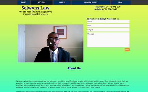 Screenshot of About Page selwynslaw.com - selwynslaw | ABOUT US - captured June 18, 2017