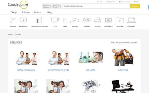 Screenshot of Services Page spectracomgroup.com - Services   SpectracomGroup  - Spectracomgroup - captured Oct. 19, 2018