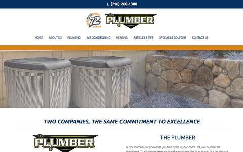 Screenshot of About Page buffaloplumbingheatingcooling.com - About Us – Bluffalo Plumbing Heating and Cooling - captured Dec. 3, 2016