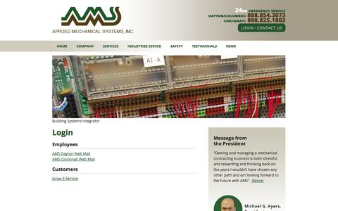 Screenshot of Login Page appliedmechanicalsys.com - Login   Applied Mechanical Systems - captured Oct. 4, 2014