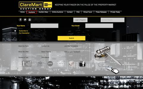 Screenshot of Signup Page claremart.co.za - Newsletter Subscription | ClareMart - Auction Group - captured Nov. 10, 2018