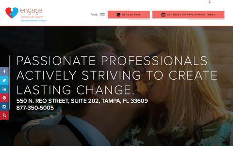 Screenshot of Home Page engagebehavioralhealth.com - Behavioral Health Center in Tampa - Engage Behavioral Health - captured Nov. 24, 2017
