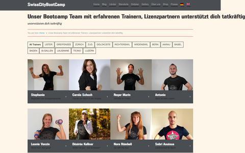 Screenshot of Contact Page swisscitybootcamp.com - Swiss-City-Bootcamp 60 Minuten effektives Workout | Das Perfekte Bootcamp Team... Trainer die begeistern - captured Jan. 12, 2016