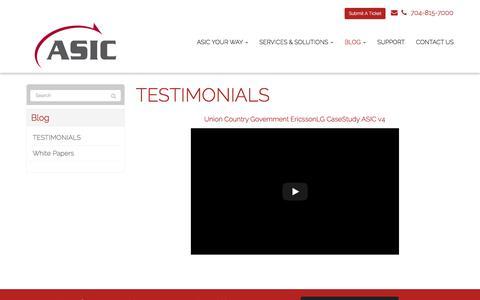 Screenshot of Testimonials Page asicllc.com - TESTIMONIALS - Matthews, Charlotte, Indian Trail | ASIC - captured July 28, 2018