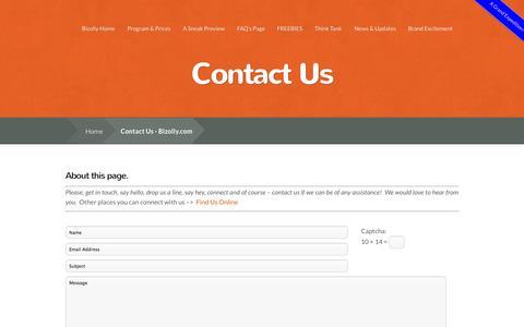 Screenshot of Contact Page corporate-headquarters.biz - Contact Us - Bizolly.com - captured Sept. 23, 2014