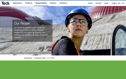 Screenshot of Team Page teck.com - Our People - Teck - captured May 23, 2018