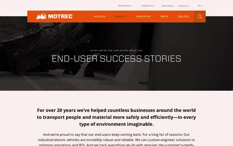 Screenshot of Case Studies Page motrec.com - Case Studies | Motrec - captured Feb. 24, 2016