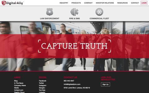 Screenshot of Home Page digitalallyinc.com - Digital Ally Inc. | Capture Truth - captured July 3, 2015