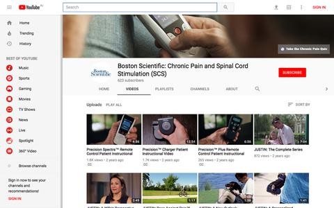 Boston Scientific: Chronic Pain and Spinal Cord Stimulation (SCS) - YouTube - YouTube