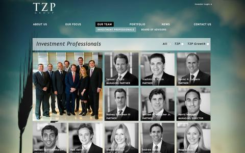 Screenshot of Team Page tzpgroup.com - OUR TEAM | TZP Group - captured Jan. 12, 2016