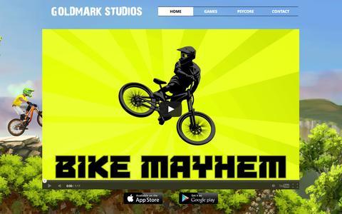 Screenshot of Home Page goldmarkstudios.com - goldmarkstudios - captured Oct. 2, 2014