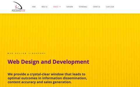 Screenshot of Services Page polarishub.com - Web Design Singapore | Web Development Company | PolarisHub - captured June 15, 2019
