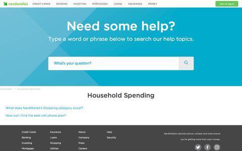 Household Spending – Nerdwallet