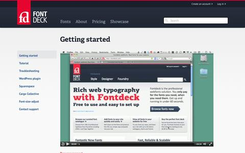 Screenshot of Support Page fontdeck.com - Support | Fontdeck - captured Sept. 23, 2014