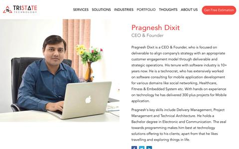 Screenshot of Team Page tristatetechnology.com - Our team : Meet the People Behind the Scene | TriState Technology - captured Aug. 14, 2019